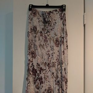 High- rise long skirt